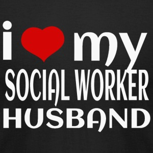 SOCIAL WORKER - I LOVE MY SOCIAL WORKER HUSBAND - Men's T-Shirt by American Apparel