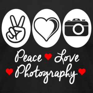 Photography - peace love photography - Men's T-Shirt by American Apparel
