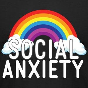 Social Anxiety - Social Anxiety Rainbow - Men's T-Shirt by American Apparel