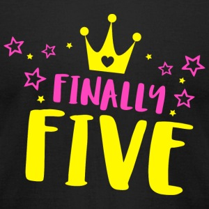 Birthday - Finally Five Year Old Girl Birthday S - Men's T-Shirt by American Apparel
