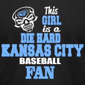KANSAS CITY THIS GIRL IS A DIE HARD KANSAS CIT - Men's T-Shirt by American Apparel
