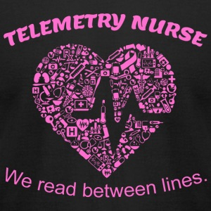 Nurse - telemetry nurse we read between lines - Men's T-Shirt by American Apparel