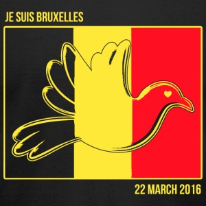 Belgium - Je Suis Bruxelles -- Belgium Solidarit - Men's T-Shirt by American Apparel