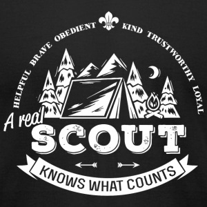 Scout - A real scout knows what counts - Men's T-Shirt by American Apparel