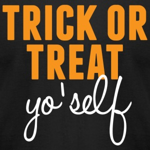 Trick Trick or Treat Yo self - Men's T-Shirt by American Apparel
