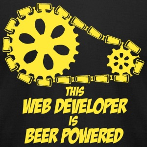 Web developer - this web developer is beer power - Men's T-Shirt by American Apparel