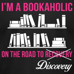 Bookaholic - On the road to recovery/ discovery - Men's T-Shirt by American Apparel
