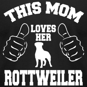 Rottweiler - this mom loves her rottweiler - Men's T-Shirt by American Apparel