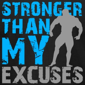 Bodybuilding - Stronger than my excuses - Men's T-Shirt by American Apparel