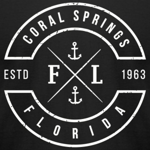 Coral Springs - Coral Springs Florida Emblem - Men's T-Shirt by American Apparel