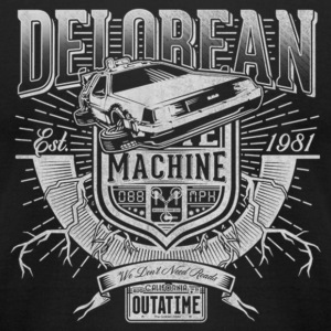 Delorean machine - We don't need roads - Men's T-Shirt by American Apparel