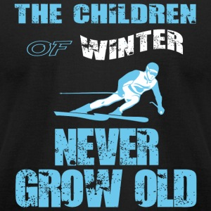 Snowboarding - The Children Of Winter T Shirt - Men's T-Shirt by American Apparel