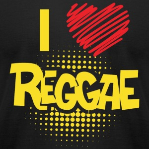 REGGAE - I LOVE REGGAE - Men's T-Shirt by American Apparel