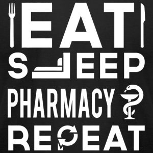 Pharmacy - Eat Sleep Pharmacy Repeat - Men's T-Shirt by American Apparel
