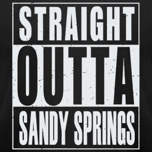 Sandy Springs - Straight Outta Sandy Springs - Men's T-Shirt by American Apparel