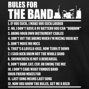 Engineer - Audio Engineer Rules For The Band For - Men's T-Shirt by American Apparel