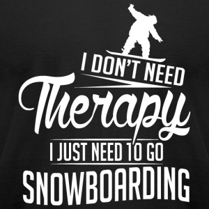 Snowboarding - Snowboarding is my therapy - Men's T-Shirt by American Apparel
