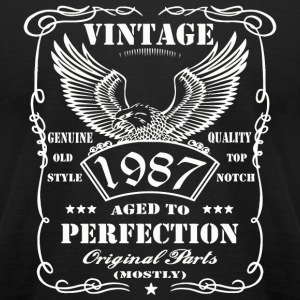 1987 - 30th birthday Man Eagle gift ideas Funny - Men's T-Shirt by American Apparel