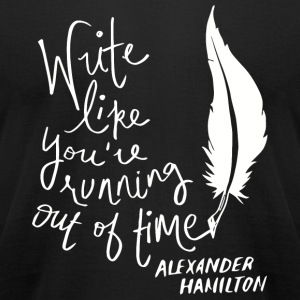 Hamilton - The Hamilton Quote Classic Time - Men's T-Shirt by American Apparel