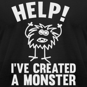 Monster - Help I've Created A Monster - Men's T-Shirt by American Apparel