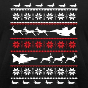 Christmas sweater for fighter jet lover - Men's T-Shirt by American Apparel