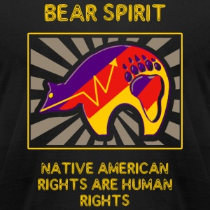 Bear Spirit - Bear Spirit -- Native American Rig - Men's T-Shirt by American Apparel