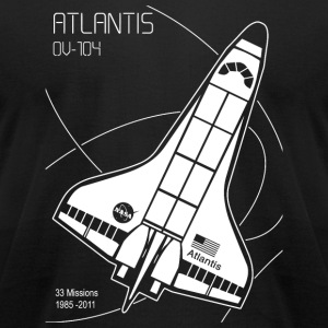 Space Shuttle Atlantis - Space Shuttle Atlantis - Men's T-Shirt by American Apparel