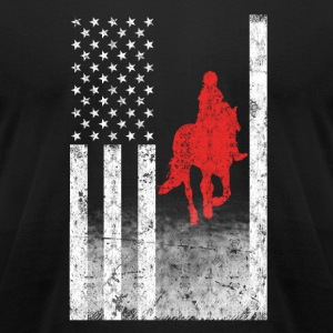Horse rider American flag T-shirt - Men's T-Shirt by American Apparel