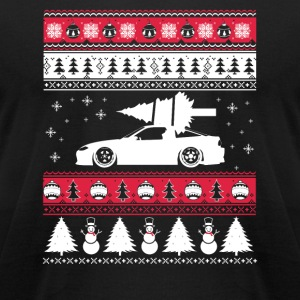 Ugly Christmas sweater for car lover - Men's T-Shirt by American Apparel