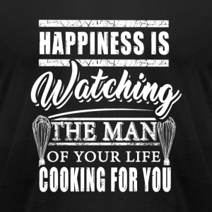 Baker - happiness is watching the man of your li - Men's T-Shirt by American Apparel