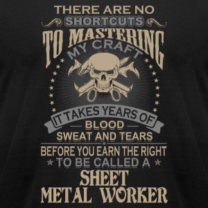 Sheet metal worker - It takes years of blood swe - Men's T-Shirt by American Apparel