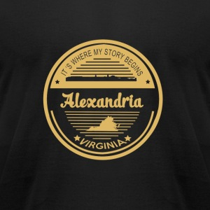 Alexandria - It is where my story begins t-shirt - Men's T-Shirt by American Apparel