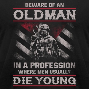 Soldier - In a profession where men die young - Men's T-Shirt by American Apparel