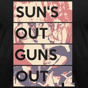 Gun - Sun's out guns out - Men's T-Shirt by American Apparel
