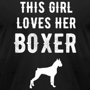 Boxer - This girl loves her boxer - Men's T-Shirt by American Apparel