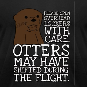 Otter - Otters may have shifted during the fligh - Men's T-Shirt by American Apparel