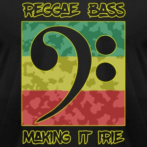 Reggae Bass - Reggae Bass -- Making It Irie - Men's T-Shirt by American Apparel