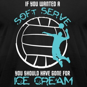 Volleyball - If You Wanted Soft Serve Volleyball - Men's T-Shirt by American Apparel