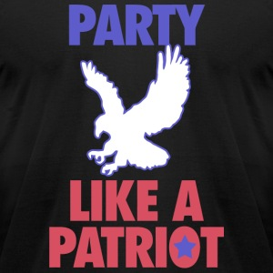Patriot - Party Like A Patriot - USA! - Men's T-Shirt by American Apparel