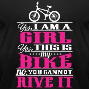Biker - Yes, I Am A Girl. Yes, This Is My Bike. - Men's T-Shirt by American Apparel