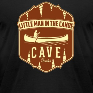 Canoe - Little Man In The Canoe Cave Tours - Men's T-Shirt by American Apparel