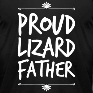 Lizard father - Proud Lizard father - Men's T-Shirt by American Apparel