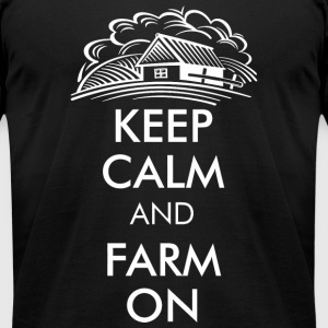 Farm - keep calm and farm on - Men's T-Shirt by American Apparel