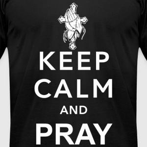 Jesus - keep calm and pray - Men's T-Shirt by American Apparel