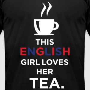 ENGLISH GIRL - THIS ENGLISH GIRL LOVEES HER TEA - Men's T-Shirt by American Apparel