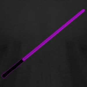 Purple Light Saber - Men's T-Shirt by American Apparel