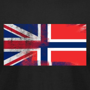 British Norwegian Half Norway Half UK Flag - Men's T-Shirt by American Apparel