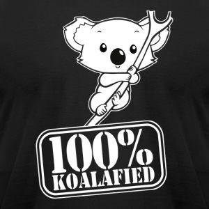 100 koalafied - Men's T-Shirt by American Apparel