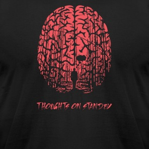 thoughts on standby - Men's T-Shirt by American Apparel