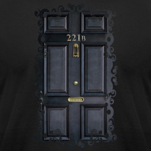 Classic Old 221b Door - Men's T-Shirt by American Apparel